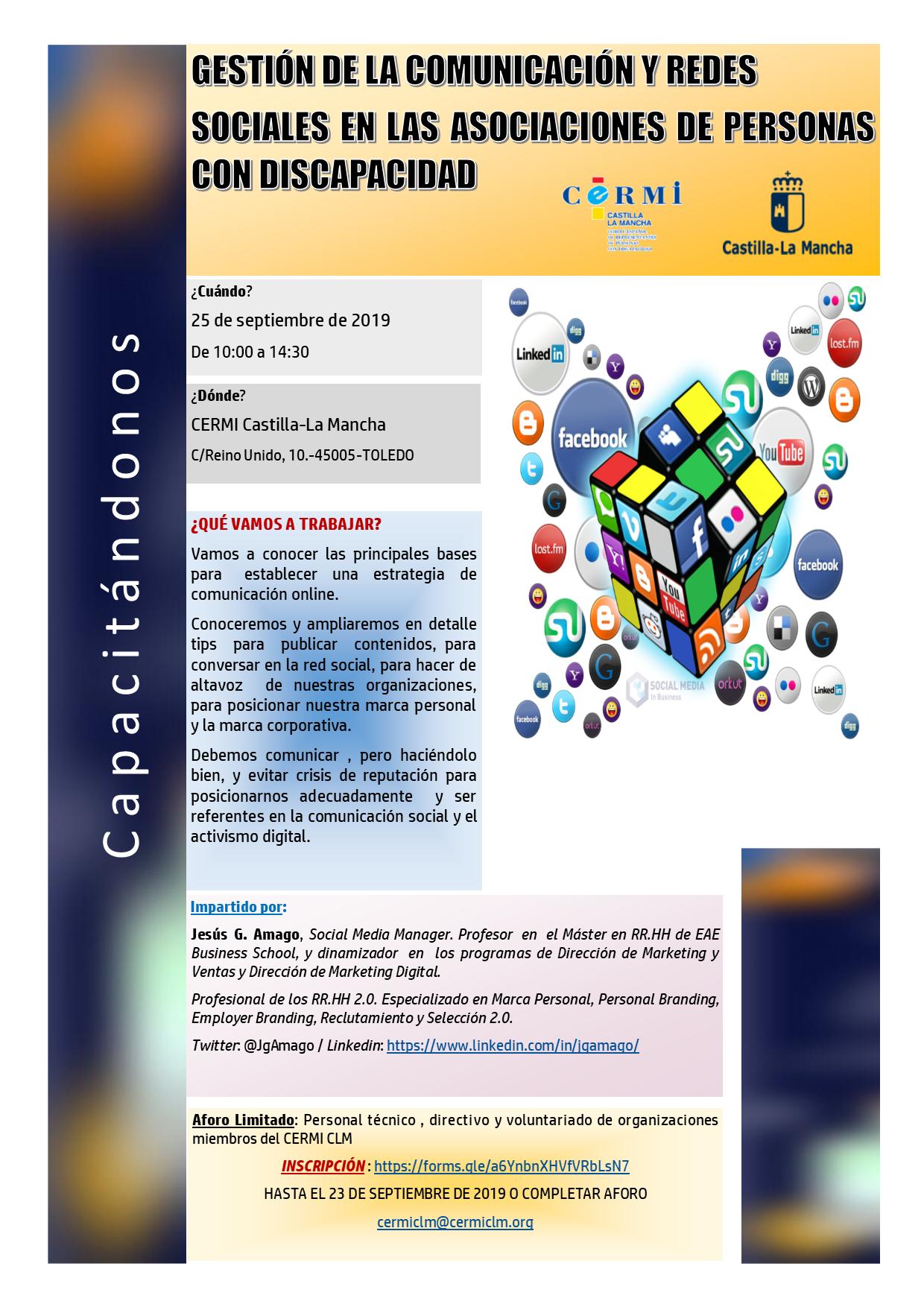 Taller sobre Redes Sociales CERMI CLM